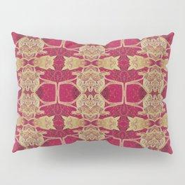 Red Gold Tibetan Pattern Pillow Sham