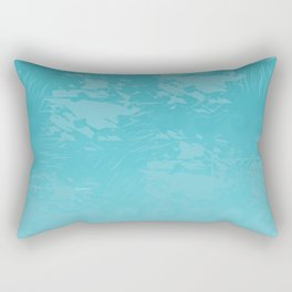 Icy Blue Abstract Rectangular Pillow