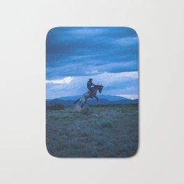 Santa Fe Cowboy Being Bucked Off Bath Mat