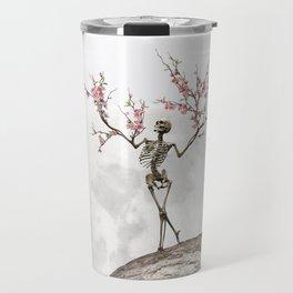 Blooming Skeleton (bright version) Travel Mug