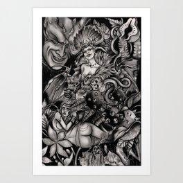 Line of Servants Art Print