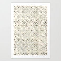 gOld grid Art Print