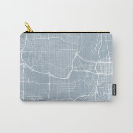Kansas City Map, USA - Slate Carry-All Pouch