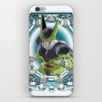 dragonball z iPhone & iPod Skins featuring DragonBall Z - Android House by Art of Mike
