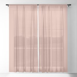 Pratt and Lambert 2019 Color of the Year Earthen Trail 4-26 Solid Color Sheer Curtain