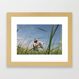 misplaced erudite Framed Art Print