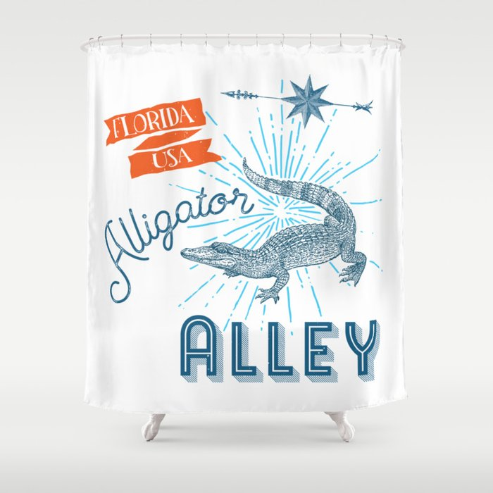 Alligator Alley Swamp Sanctuary Florida Shower Curtain