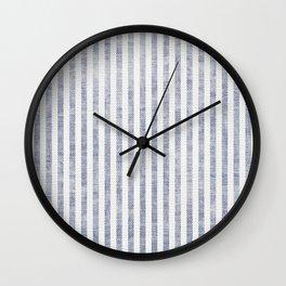 AEGEAN TICKING STRIPE BLUE Wall Clock