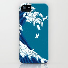 Waves Llama iPhone Case