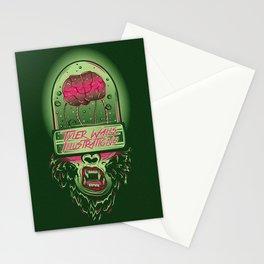 Monkey Brains Stationery Cards