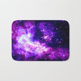 Purple Galaxy : Celestial Fireworks Bath Mat