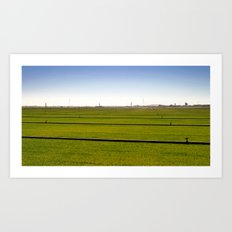 Where The Grass Is Growing Art Print