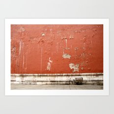 The Abandoned Bicycle Art Print