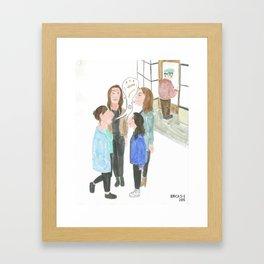 4 Jewish Girls Talking Shit Framed Art Print