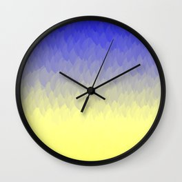 Sky and Sun -- Blue yellow ombre flames Wall Clock
