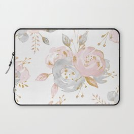 Roses Gold Glitter Pink by Nature Magick Laptop Sleeve