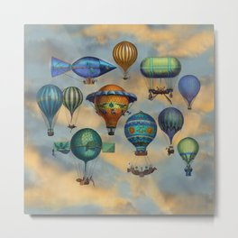 Aviation Flotation Metal Print