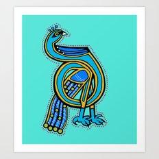 Peacock letter D 2017 Art Print