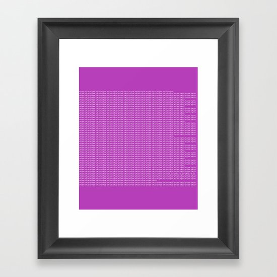 getting warmer Framed Art Print