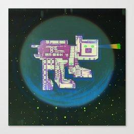 Spatial Bot Dog Canvas Print