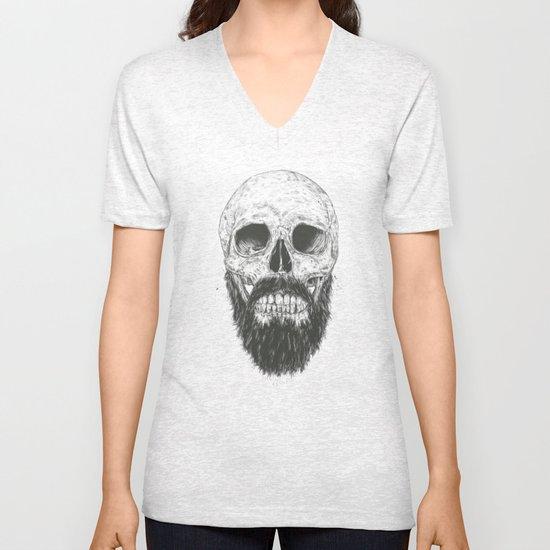 The beard is not dead Unisex V-Neck
