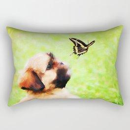 Watching Butterflies Rectangular Pillow