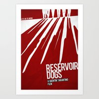 reservoir dogs Art Prints featuring Reservoir Dogs by Andres Asencio