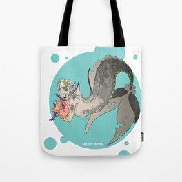 Flower mermaid Tote Bag