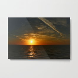 A Heavenly November Sunset Metal Print