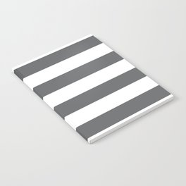 Simply Striped in Storm Gray and White Notebook