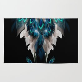 Lost among many feathers Rug