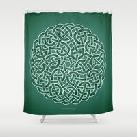 celtic Shower Curtains featuring Celtic knot by tuditees