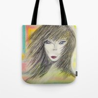 alien Tote Bags featuring Alien by Laake-Photos
