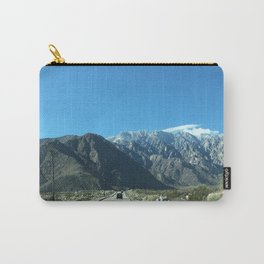 Mountain Snow in Palm Springs California Carry-All Pouch