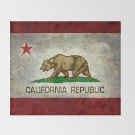 California flag - Retro Style Throw Blanket