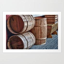 Barrels at Mystic Art Print