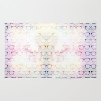 glasses Area & Throw Rugs featuring Glasses by C Designz