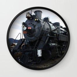 Vintage Railroad Steam Train Wall Clock
