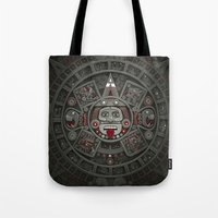calendars Tote Bags featuring Stone of the Sun I. by Dr. Lukas Brezak