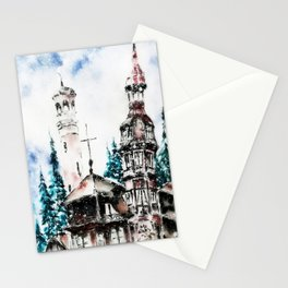 Winter at the Castle Stationery Cards