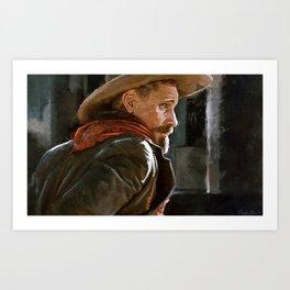 The Gunslinger - The Cowboy - The Dead Art Print
