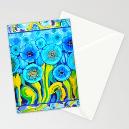 Field of Poppies with Border All Around Belize Stationery Cards