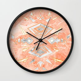 Sweet Pink Marble Design Wall Clock