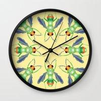 bug Wall Clocks featuring Bug by MinaSparklina