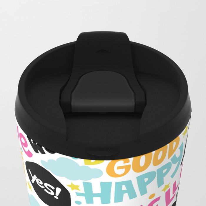 Sunshine & happiness Metal Travel Mug