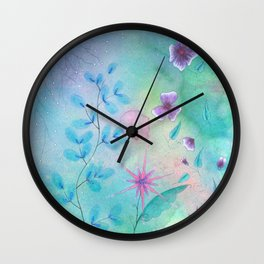 Ethereal garden watercolor painting Wall Clock