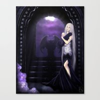 selena Canvas Prints featuring Vampire Selena by Asilh87