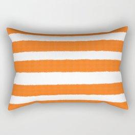 Warm and Happy Orange Stripes Rectangular Pillow