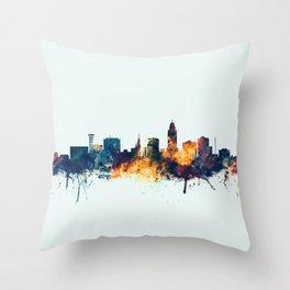 Lincoln Nebraska Skyline Throw Pillow