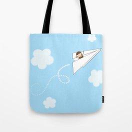 Paper Aeroplane Pilot Tote Bag
